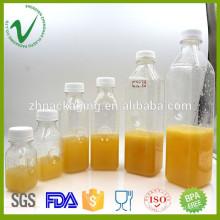 Großhandel kundenspezifische Volumen klar alle Art von Kunststoff Flasche Saft China Lieferant