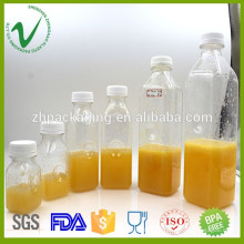 Por mayor volumen a medida clara de todo tipo de jugo de botella de plástico proveedor de China