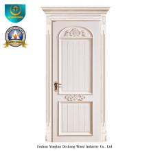 Puerta de madera maciza europea con talla para interior (ds-044)