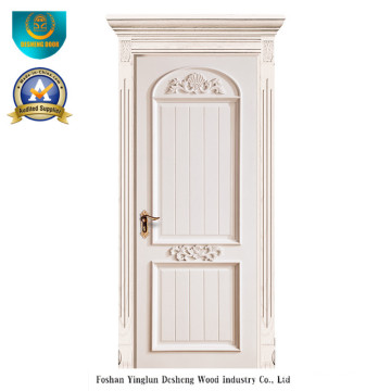 European Solid Wood Door with Carving for Interior (ds-044)