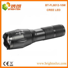 Factory Supply Multi-functional Aluminium Zoom Dimmer cree xml2 t6 led High Power Long Range Rechargeable Torch with Strobe