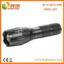 China Fábrica de Alimentação barata poderosa de alumínio Caça 10w levou mais poderoso levou lanterna recarregável