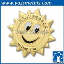 Logotipo redondo de metal cromado de boa qualidade