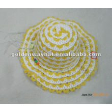 Bonnets d'été pour bébés jaunes tricotés
