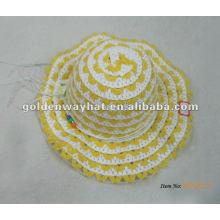Трикотажные желтые детские летние шапки