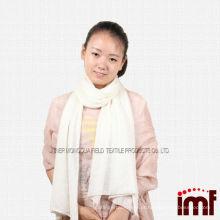 Pura cashmere cor sólida off branco xale cachecóis para menina (vermelho / verde / azul)