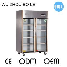 Refrigerador doble de la cocina de las puertas del acero inoxidable