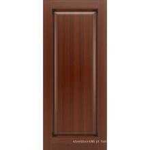 Porta de madeira de mogno maciço estilo tradicional