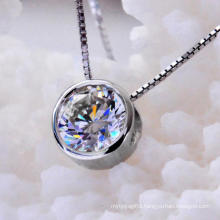 Bright Round Atificial Diamond Fashion Necklace Jewelry