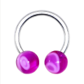 Electric Blue Horseshoe Circular Barbell