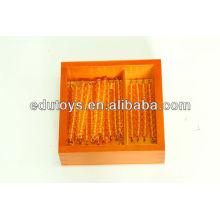 Монтессори образовательная игрушка - бисером для десяти досок с коробкой (Beechwood)