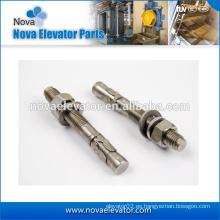 Tornillos de anclaje de elevador, Elementos de fijación de elevador para soporte de carril
