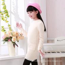 Großhandel Anti-Falten neue Design Mädchen stilvolle Langarm-Pullover