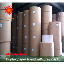 300GSM Clay Revestido Duplex Board com as costas cinza