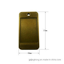 Fashion Brass Plated Zinc Alloy Customized Label For Handbags