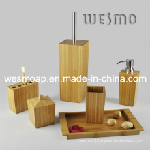 Bucolic and Archaic Carbonized Bamboo Bathroom Set