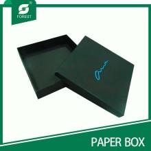 Impressão de logotipo de qualidade superior Caixa de presente preta com tampa