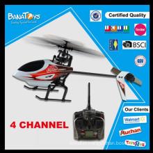 Oferta especial! Helicóptero de controle de rádio de hélice de helicóptero de brinquedo 4ch único único com helicóptero de rc de gravidade de GYRO