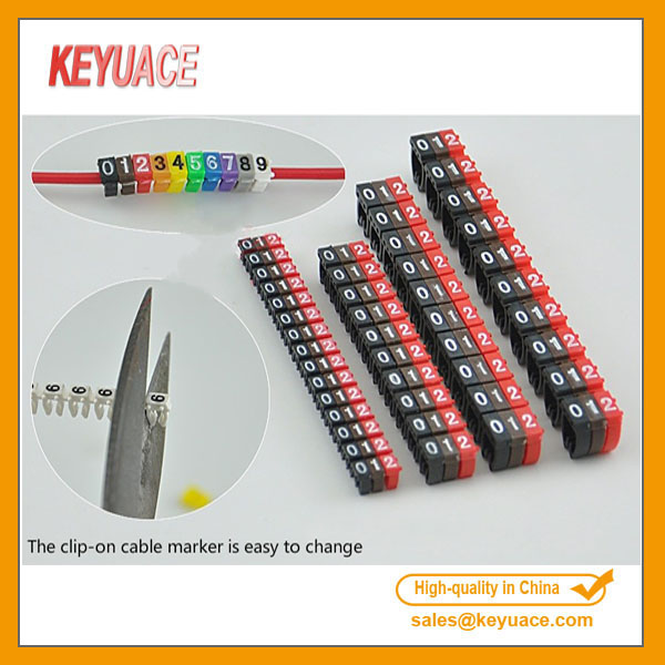 POM 0-9 Coded plastic cable marker factory manufacture 1.5mm 2.5mm 4mm 6mm electrical wire tags numbering clip on (1)