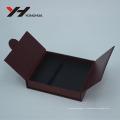 Boîte-cadeau d'emballage de carton de conception d'impression faite sur commande de couvercle de papillon symétrique