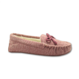 Wholesale Distributors for Womens Fur Moccasins high quality soft pink jersey upper moccasin slippers export to Vanuatu Importers