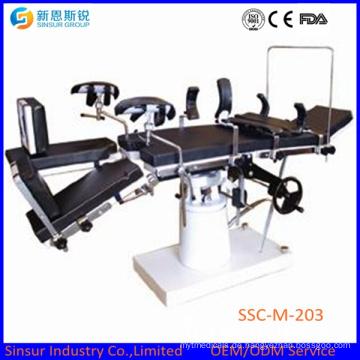 ISO / Ce Qualität Orthopädische Allgemeine Gebrauch Manuelle Justierbare Chirurgische Operationstabelle