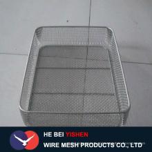 Malha de arame processamento profundo / cesta churrasqueira malha de arame / filtros na fábrica anping