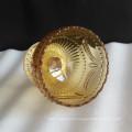 Bolinhos de gelado de vidro âmbar com design de padrão Uique