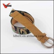 Rindleder Tarnung Design Mode elastischen Gürtel