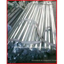 Achteckig verzinkter Stahl elektrischer Pfosten