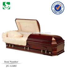 cercueil de bois dur de haute qualité provenant de la Chine