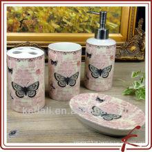 Conjunto de banho de cerâmica borboleta