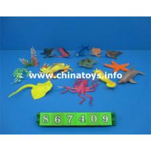 Venda quente de plástico brinquedo marinha aminal (867409)