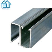 Los perfiles de acero galvanizaron los tamaños de acero del canal