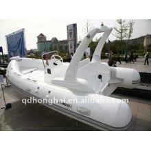 Iate de luxo de barcos infláveis do CE RIB520 fibra de vidro com motor de popa de cabine