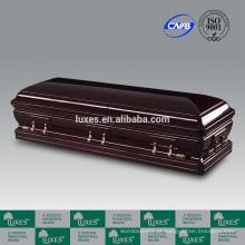 Caixão fabricante LUXES Alsácia estilo americano grande caixão de madeira