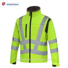 Veste de sécurité réfléchissante de la coutume 3m de molleton, veste de sécurité de haute visibilité de Soft Shell Hi Vis