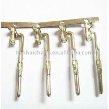Terminales de conector de clip de alambre recubiertas de latón chapado en níquel especial