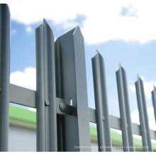 Hot DIP galvanização Security Steel Fence