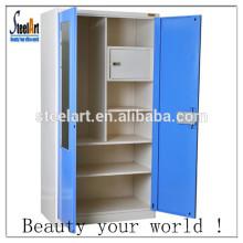meubles de chambre à coucher armoire de rangement en acier / armoire