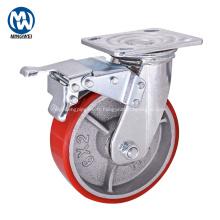 Roulette en fonte robuste de 6 pouces