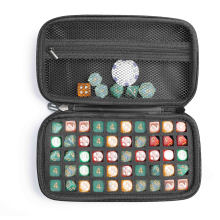 Factory Dustproof Party Game Dice Set box, Zipper Carrying Bag Playing EVA Dice Case