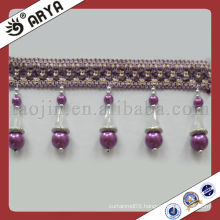 Wholesale Decorative Purple beads curtain l Fringe Used for Curtain Accessories,Match Drapery Fabric