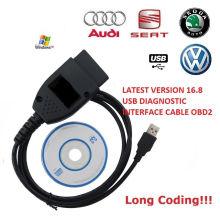 Câble de diagnostic VAG Kkl C-O-M 16.8.0 pour voitures Audi/Seat/VW