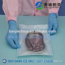 Bolsa de rollos de esterilización plana de suministros médicos