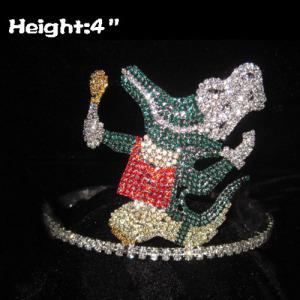 Coronas de 4 pulgadas de altura de pato de cristal