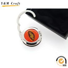 Percha personalizada con gancho de bolso de alta calidad (G01018)
