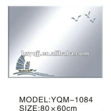 Hangzhou Xiaoshan 4mm Silber oder Aluminium Spiegel Lack lackiert oder Hand-applique Bad Spiegel
