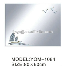Ханчжоу Xiaoshan 4 мм Серебряный или алюминиевый зеркальный лак окрашенный или ручной аппликацией зеркало для ванной