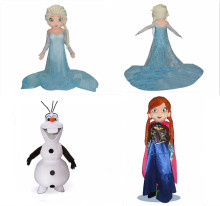Hot Sale Frozen Cartoon Character Princess Elsa Anna and Snowman Mascot Costume Party and Festival Supply Adult Size